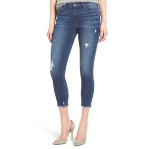 PAIGE Hoxton Crop Nora Distressed Jeans